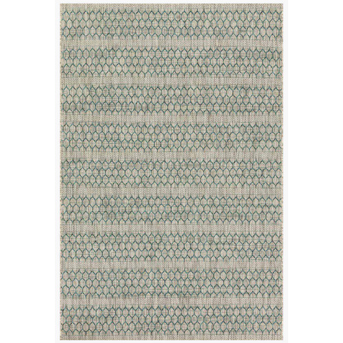 Isle Indoor/Outdoor Grey Teal Rug, 94x129