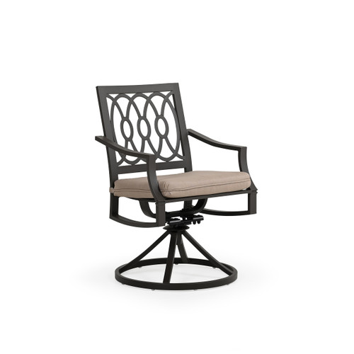 Serenity Outdoor Aluminum Swivel Dining Arm Chair