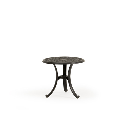 Charleston Outdoor Cast Aluminum Round End Table