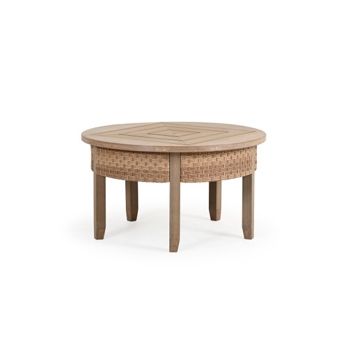 Retreat Outdoor Wicker Round Cocktail Table