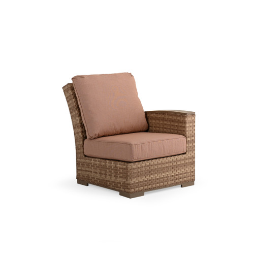 Retreat Outdoor Wicker Right Facing Arm Chair in Sandstone