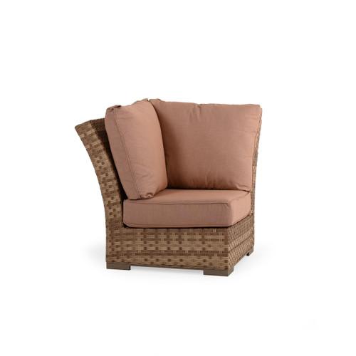 Retreat Outdoor Wicker Corner Chair in Sandstone