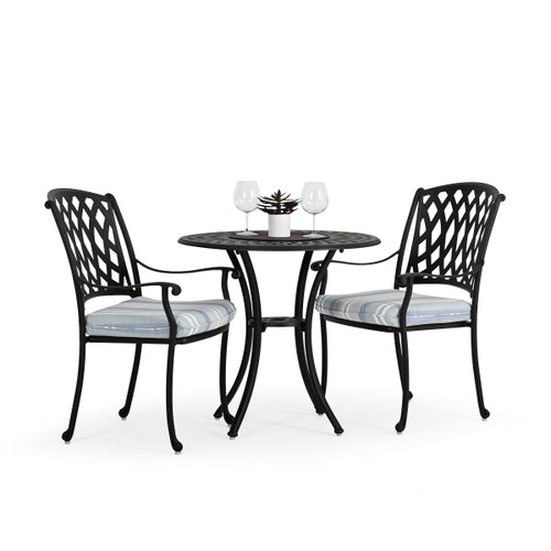 Trellis Outdoor Cast Aluminum 3 Piece Dining Set