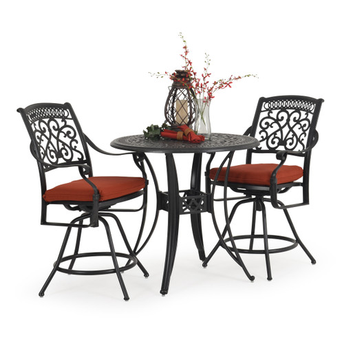 Charleston Outdoor Cast Aluminum 3 Piece Counter Set