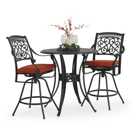 Charleston Outdoor Cast Aluminum 3 Piece Bar Set