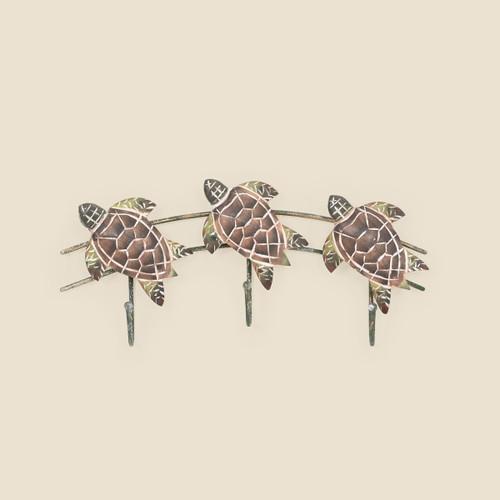 Triple Turtle Hook Wall Hanging