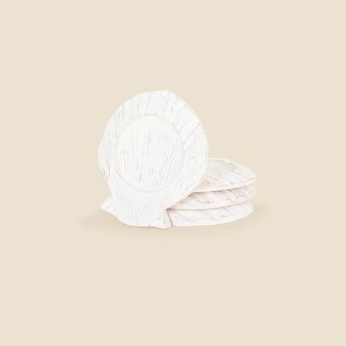 Scallop Shell Coasters, Set of 4