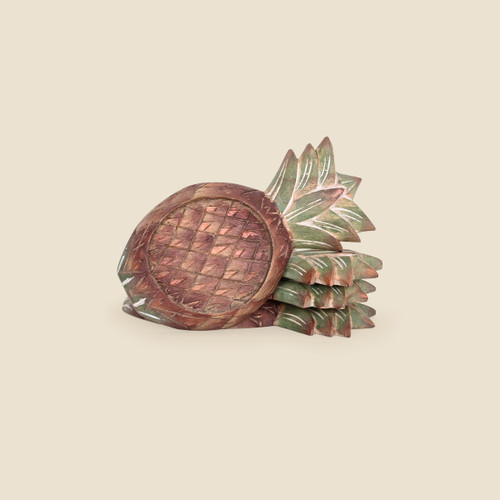 Pineapple Coasters, Set of 4