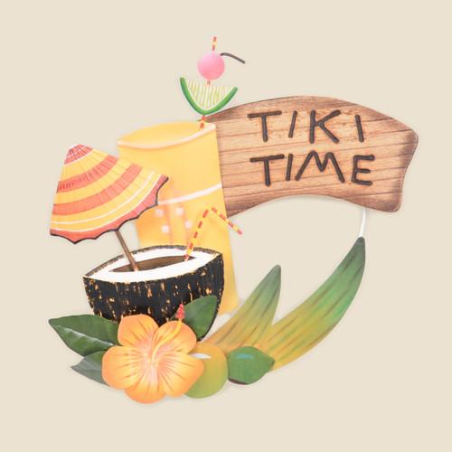 Tiki Time Metal Wall Art