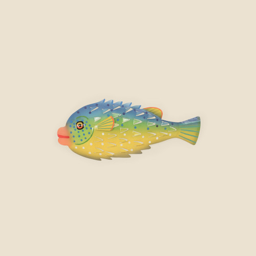 Porcupine Fish Metal Wall Art, Medium