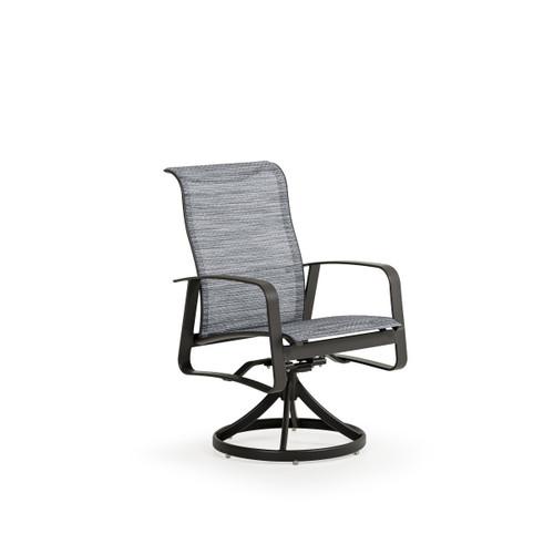 Cabana Outdoor Sling Swivel Tilt Dining Chair