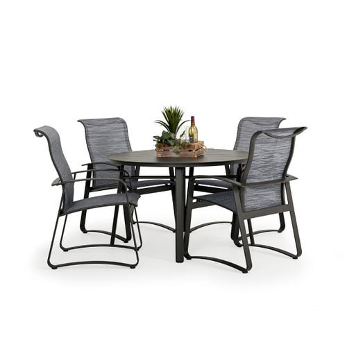 Cabana Outdoor 5 Piece Sling Dining Set with Aluminum Top