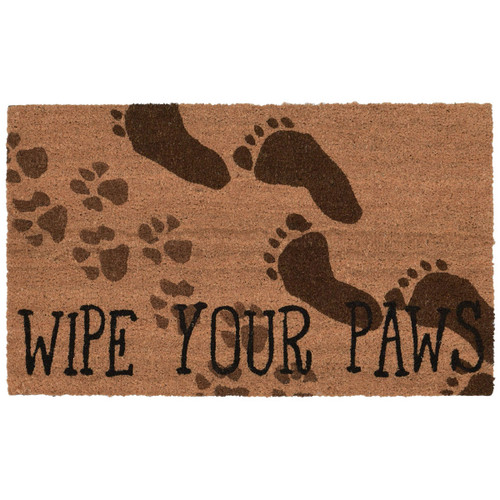 """Wipe Your Paws Welcome Mat, 18"""" x 30"""""""