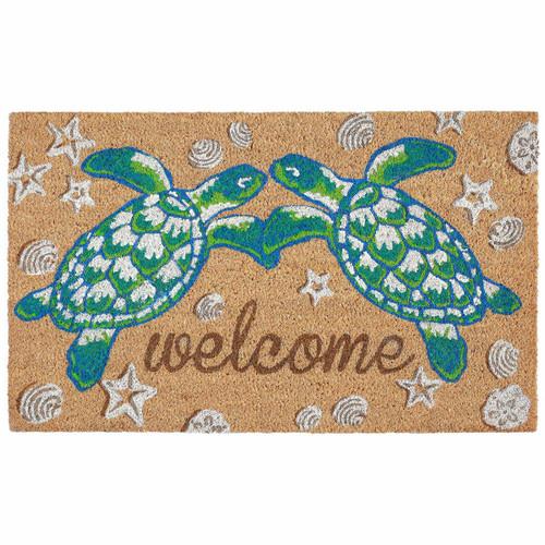 "Sea Turtles Welcome Mat, 18"" x 30"""