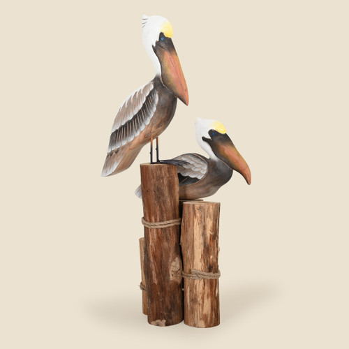 Pelicans on Piling Tabletop Art