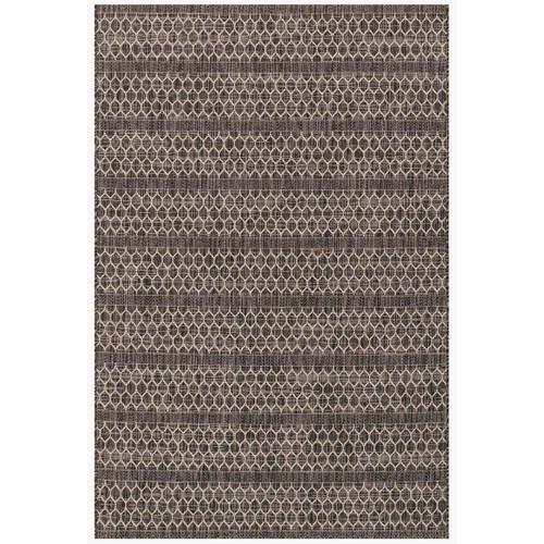 """Isle Indoor/Outdoor Black Grey Rug, 94"""" x 129"""""""