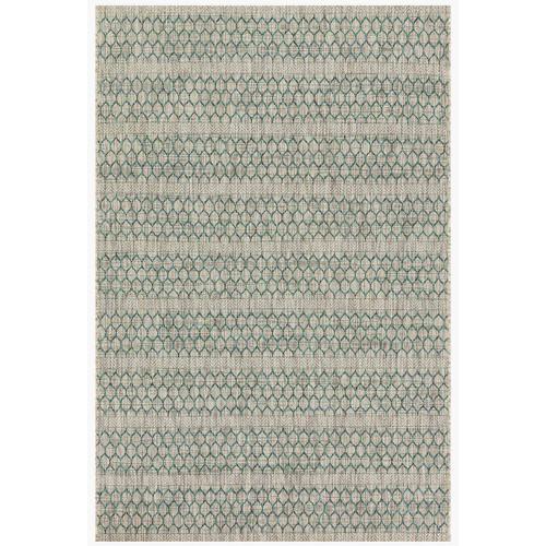 Isle Indoor/Outdoor Grey Teal Rug, 94x129
