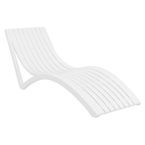 Pacifica Slim Pool Chaise Sun Lounger in White