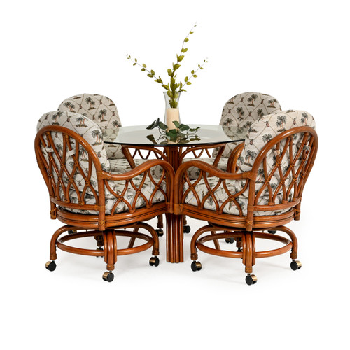 Jamaica 5 Piece Swivel Tilt Dining Set