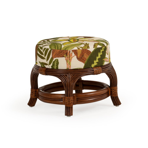 Island Way Indoor Rattan Round Ottoman