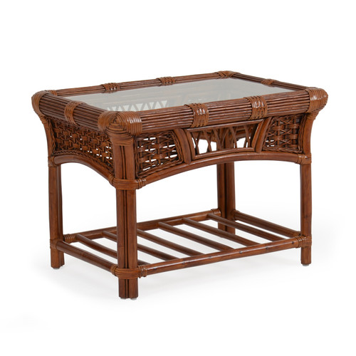 Islandway Indoor Rattan Rectangular End Table