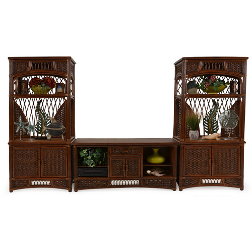 Island Way Indoor Rattan Entertainment Center