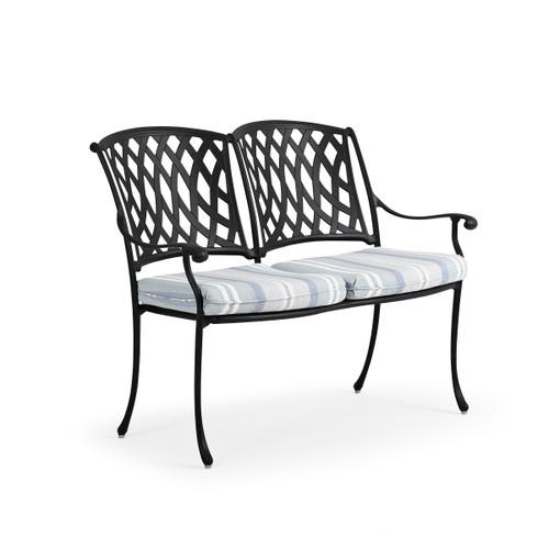 Trellis Outdoor Cast Aluminum Bench