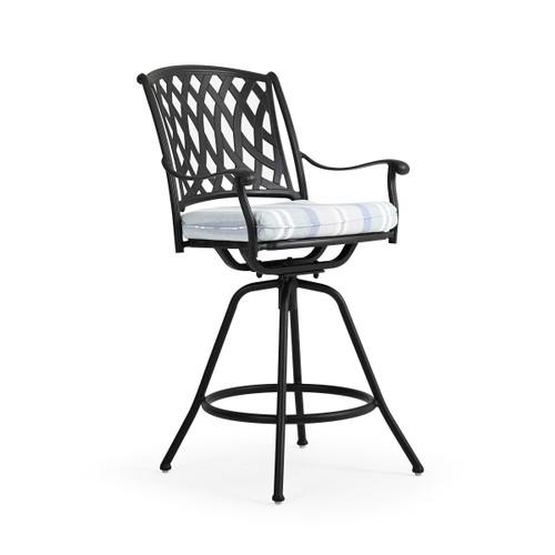 Trellis Outdoor Cast Aluminum Swivel Bar Stool