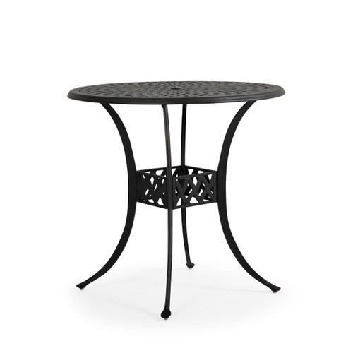 """Trellis Outdoor Cast Aluminum 42"""" Round Bar Table"""