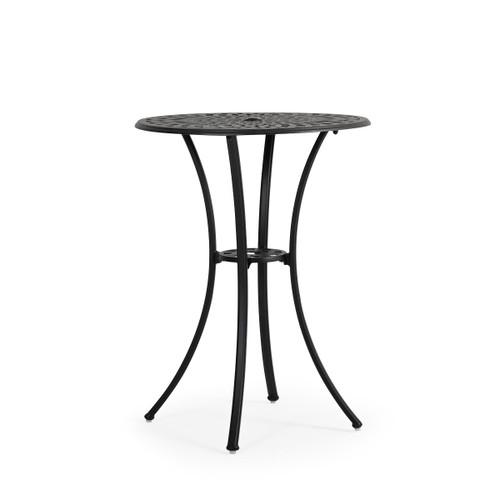 """Trellis Outdoor Cast Aluminum 30"""" Round Bar Table"""