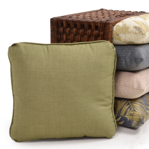 Indoor Square Toss Pillow with Small Welt