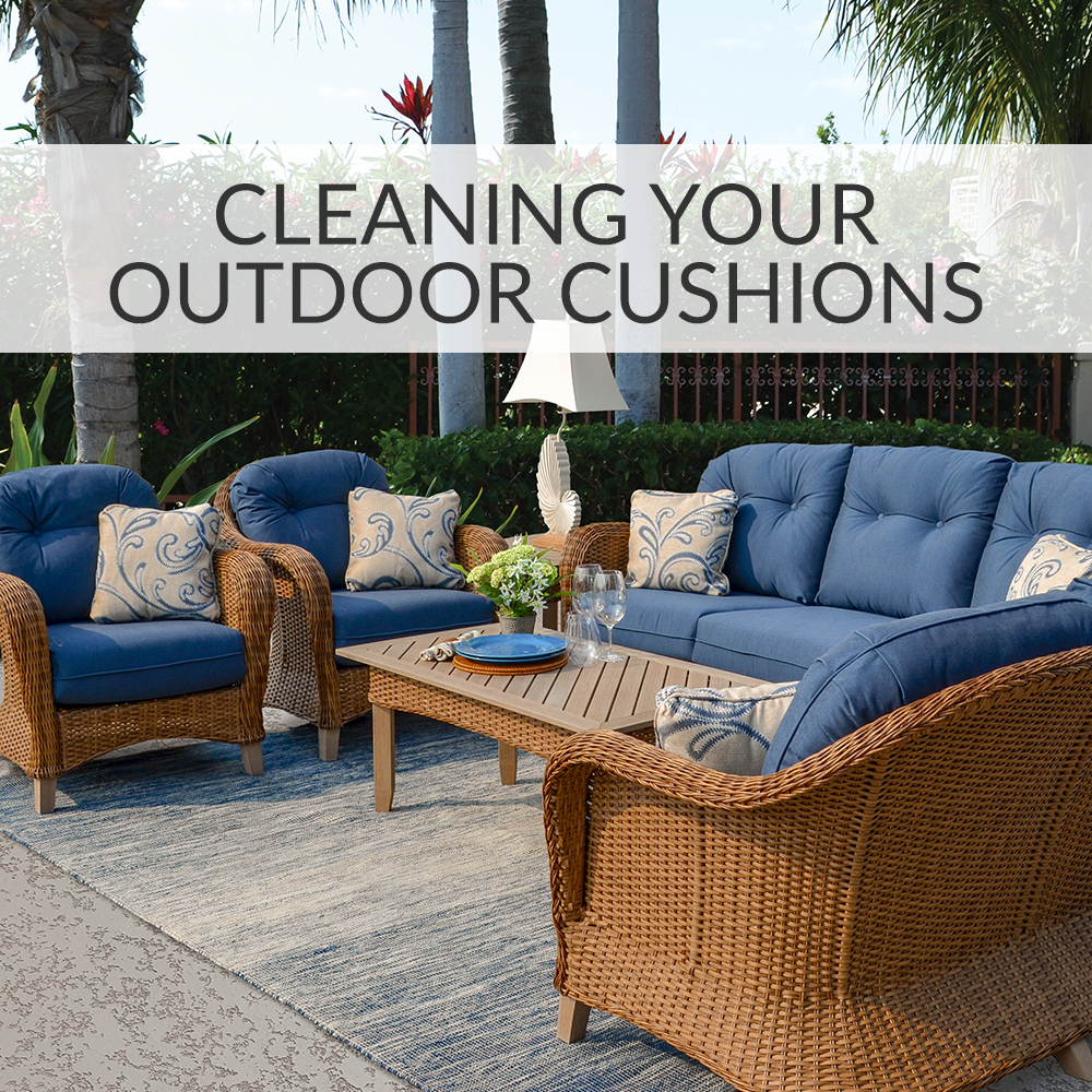 Take a seat how to care for and clean your outdoor cushions