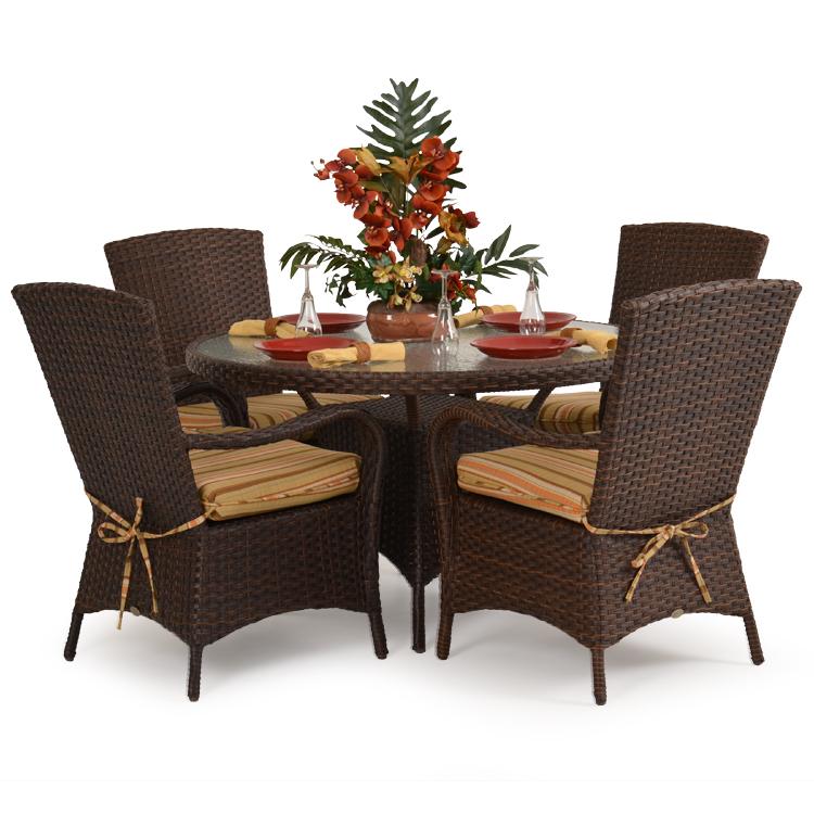 Outdoor Resin Wicker Dining Set