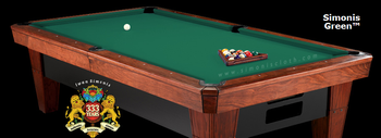 Simonis 860 Billiard Cloth, 9 foot cut with bed and rails