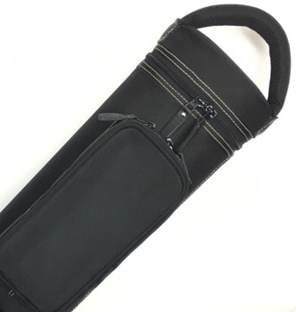 JB Dynamite Rugged 3x4 / 2x5 black with tan stitching, tan interior, 2 oversize pockets, top handle