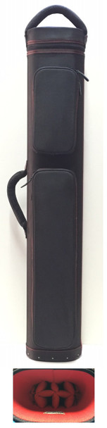 JB Dynamite Rugged 4x8 black with red stitching, red interior, 2 oversize pockets, top handle
