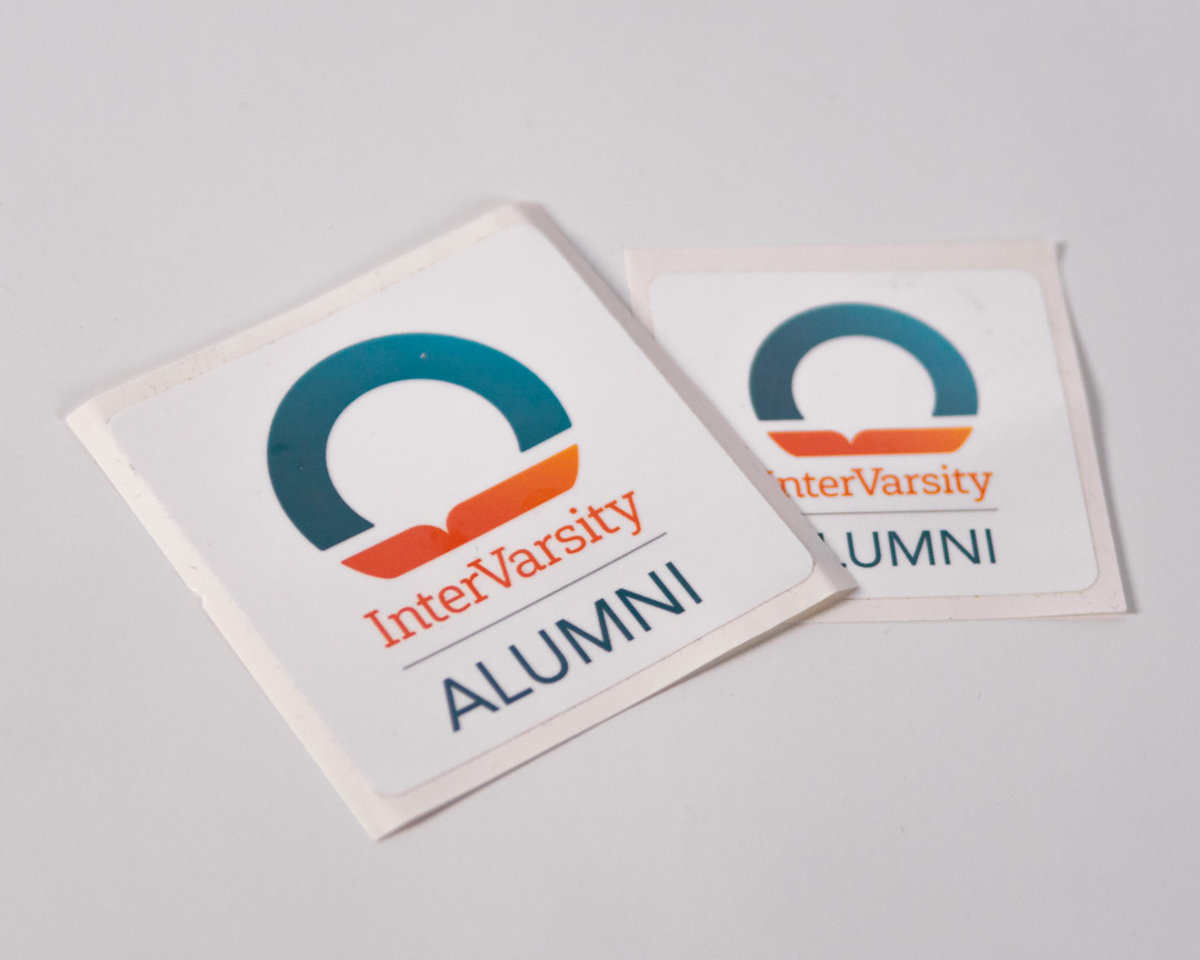 "Alumni - Large Sticker 2.5"" x 2.5"""