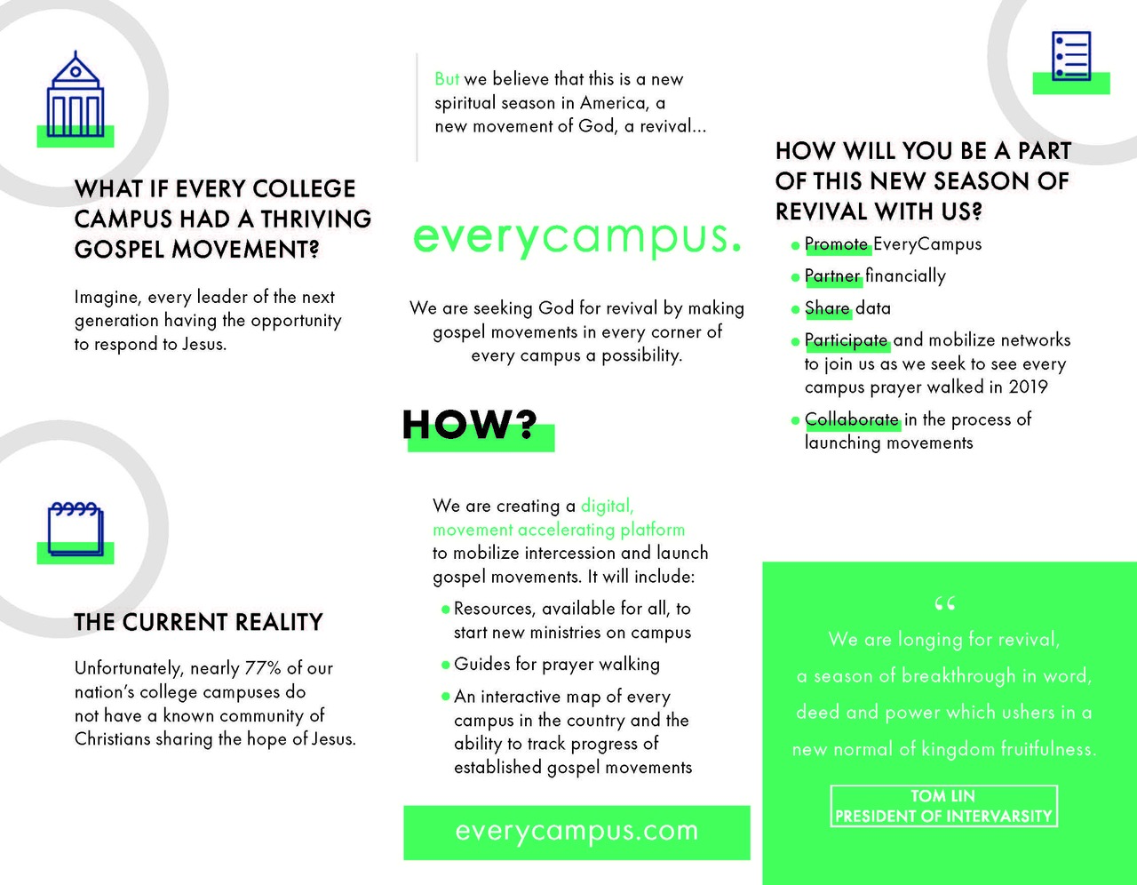 EveryCampus Partner Brochures (pack of 25)