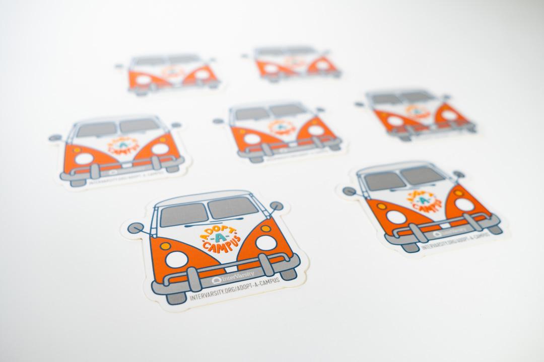 Adopt a Campus: Van Sticker (each)