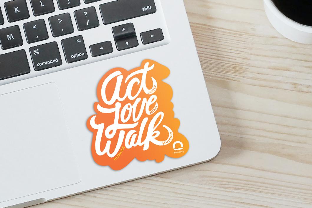 Act Love Walk - Sticker