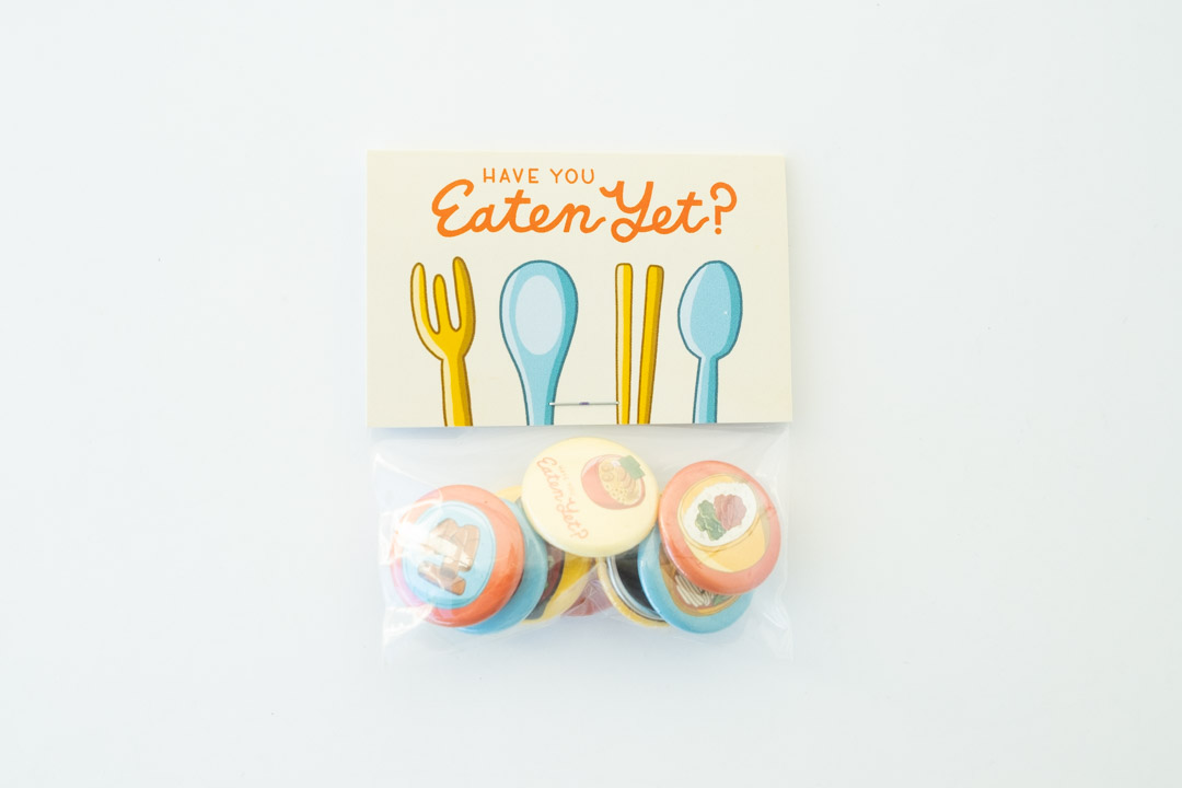 Have You Eaten Yet? - Buttons - 8 buttons per pack