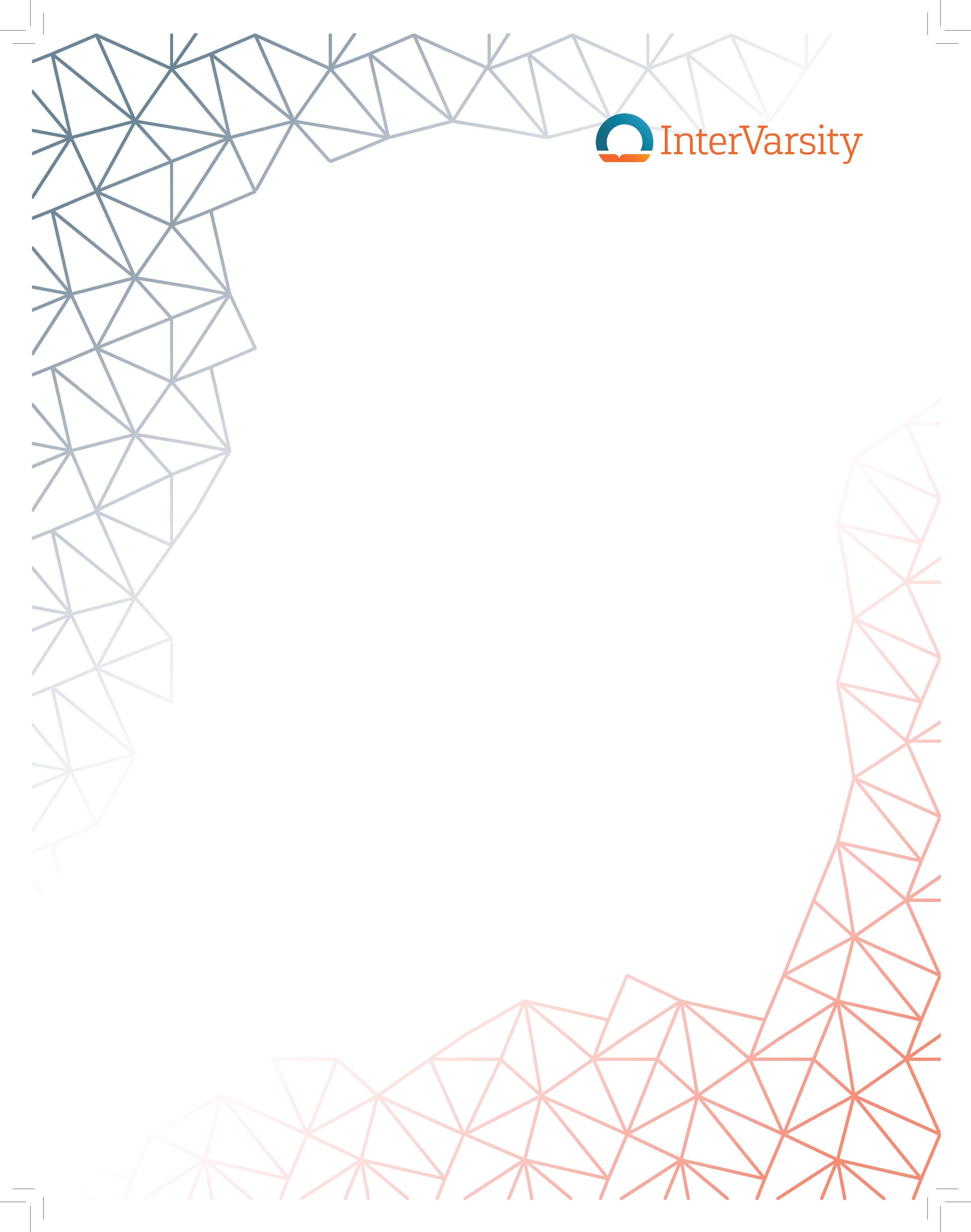InterVarsity Corners Poster 8.5 by 11 (bundle of 25)