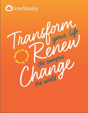 InterVarsity Transform Renew Change Flyers / postcards (25 sheets equaling 100 flyers)