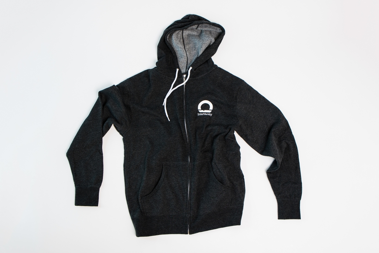 InterVarsity Grey Zippered Hoodie
