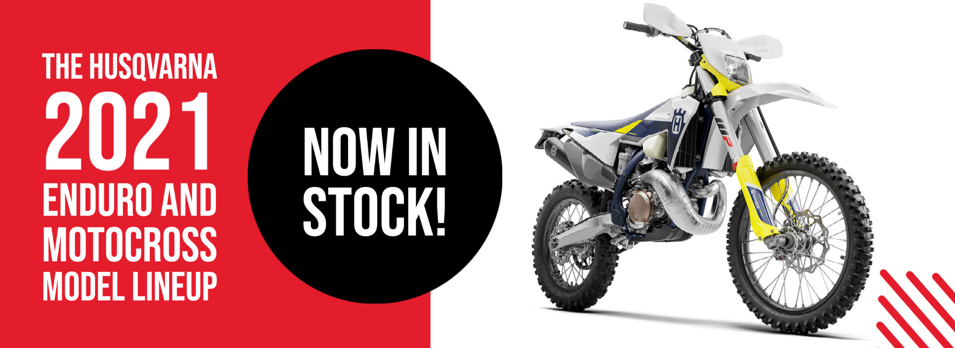 Husqvarna Motorcycles in stock