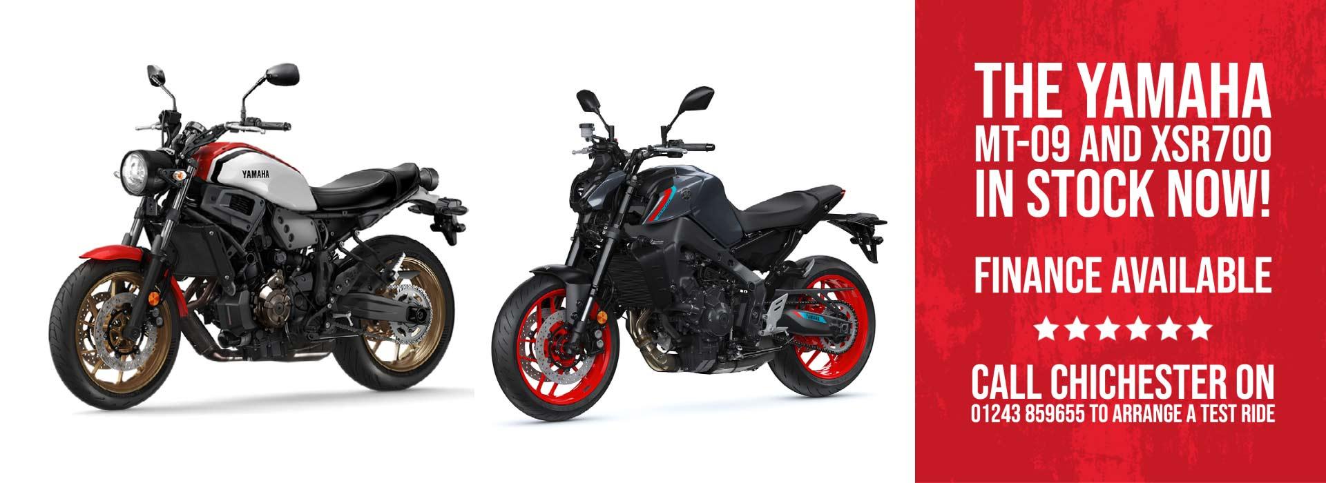 Yamaha MT-09 and MT-07 Motorcycles