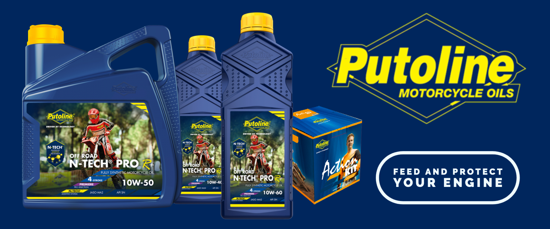 Putoline Motorcycle Oils and Air Filter Cleaners
