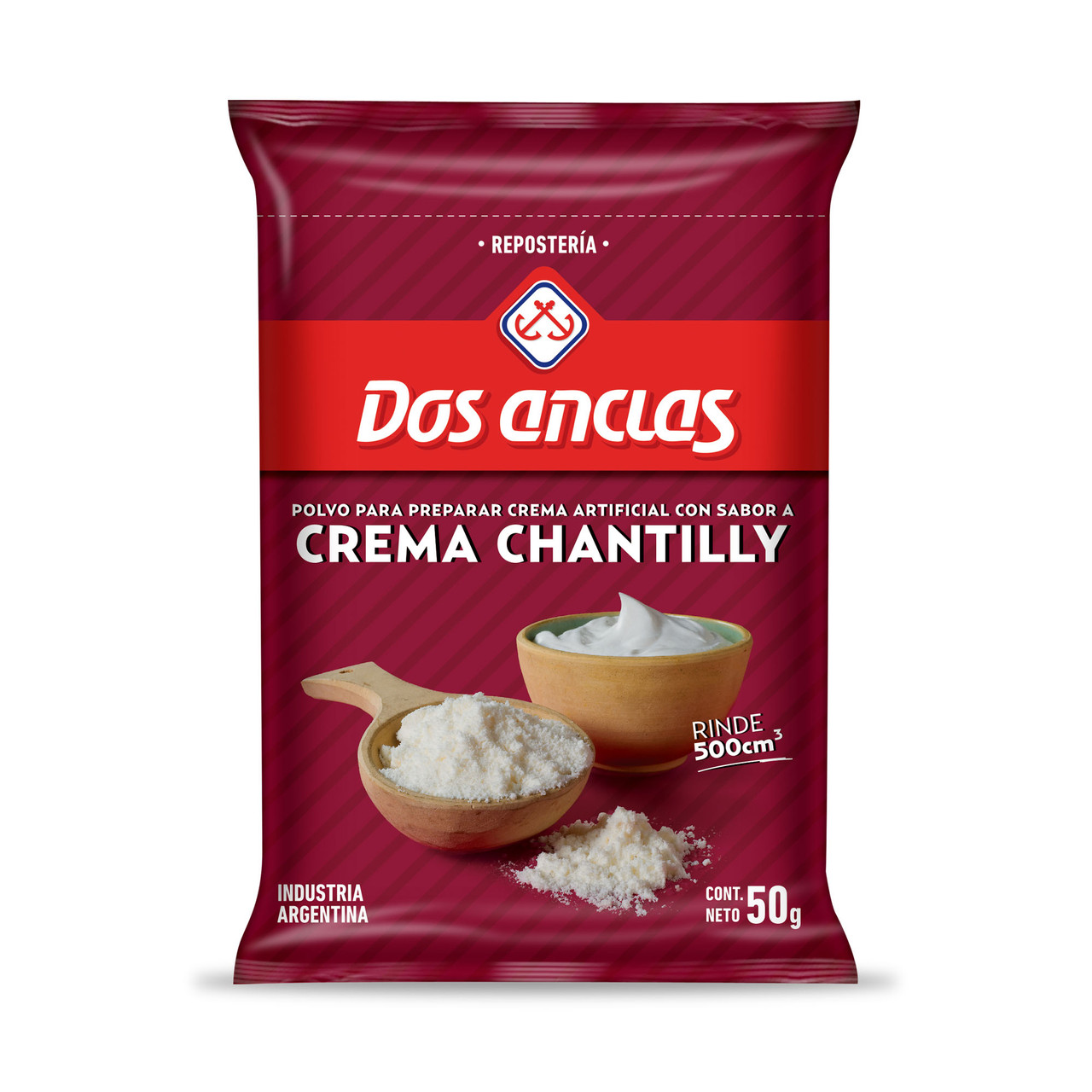 Dos Anclas Crema Chantilly Powder Ready To Make Chantilly Cream 50 G 0 88 Oz Pouch For 500 Ml Pampa Direct