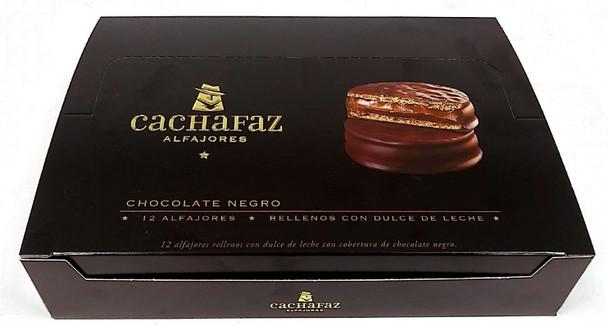 Cachafaz Alfajor Dark Chocolate with Dulce de Leche (box of 12)