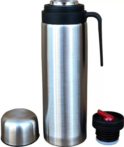 Stainless Steel Thermos Uruguay Style Vacuum Bottle with Pouring Beak for Mate Termo Pico Vertedor Cebador, 1 L / 33.8 oz